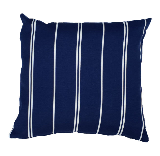 Navy Blue and White Pin Stripe Hamptons Style Cushion Cover