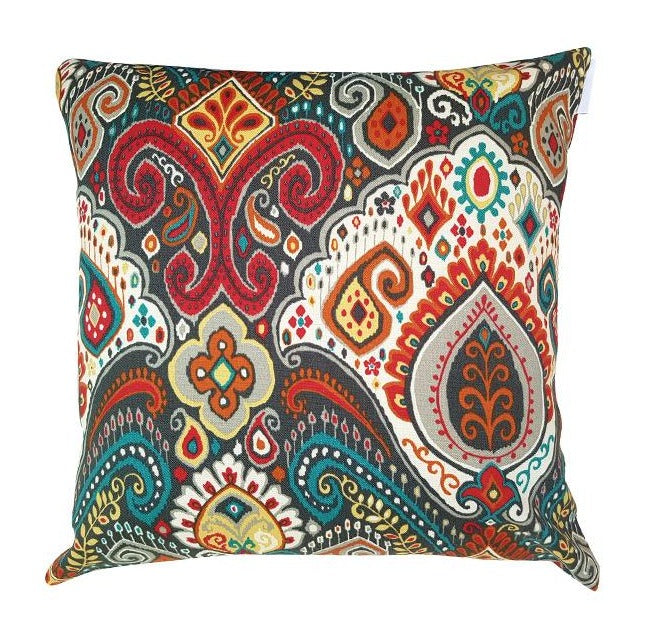 Red Moroccan outdoor cushion cover
