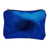 Sparkling Blue Leather Mini Clutch