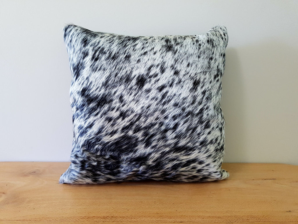 Swirl Black and White Cowhide Cushion 45cm