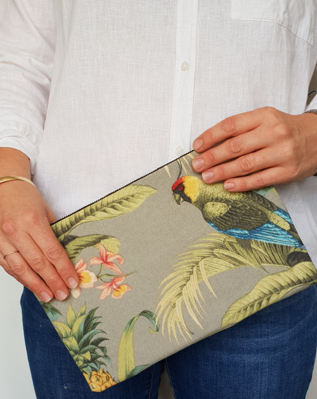Tangelo Fabric Clutch