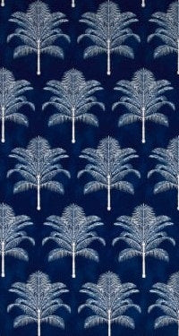 Blue Azul Tropical Palms Table Runner