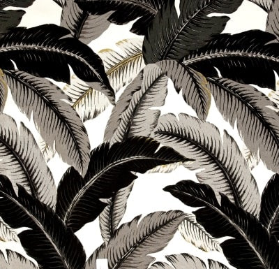 Tommy Bahama Indoor Outdoor Swaying Palms Onyx Fabric