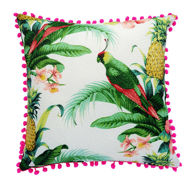 Tommy Bahama Tropical With Pom Poms Indoor Cushion
