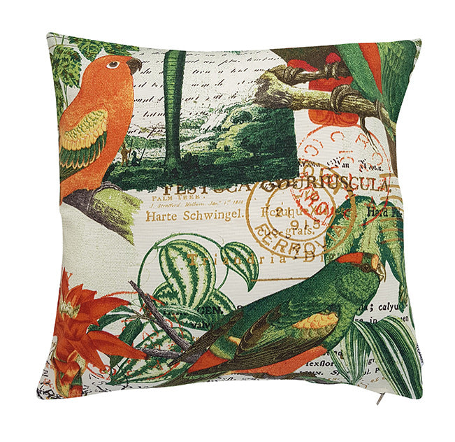 Richloom Solarium Outdoor El Centro Jungle 45cm indoor outdoor cushion cover tropical birds