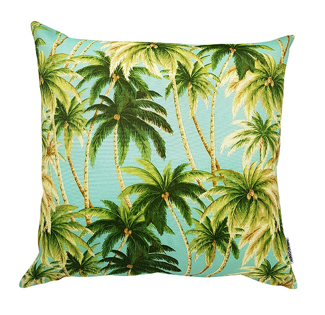 Tommy bahama indoor outdoor Tropical Seaspray Palms Aqua cushion cover