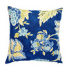 Yellow and Blue Hamptons Style indoor cushion cover