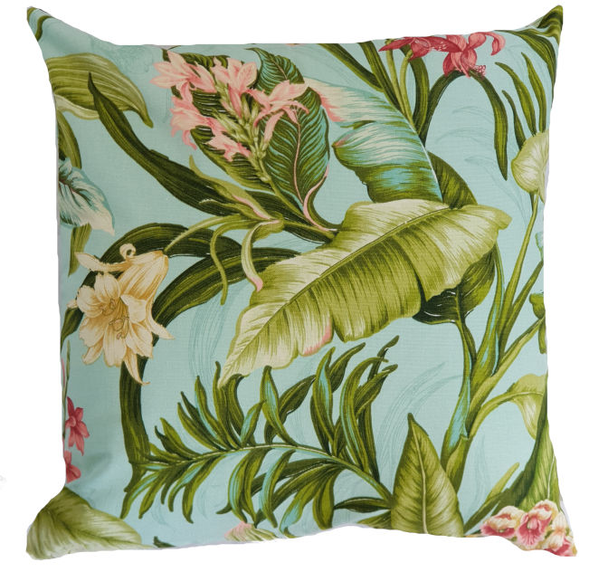 Aqua Botanical Indoor Cushion Cover