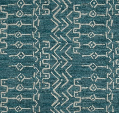 Aqua Tribal Mud Cloth Indoor Cushion Cover