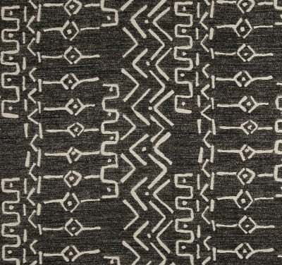Charcoal Tribal Mud Cloth Indoor Cushion Cover