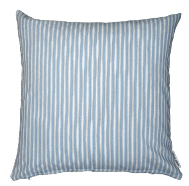 Baby Blue Ticking Stripe Indoor Cushion Cover