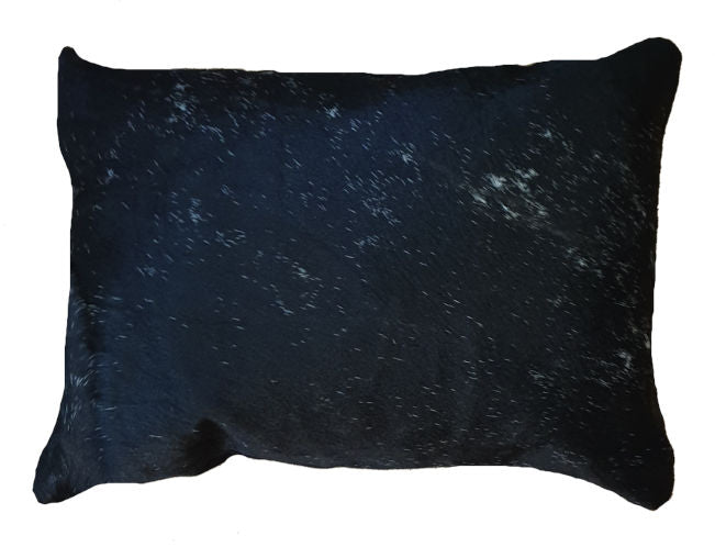 Black and Silver Grey Cowhide Rectangle Cushion Cover 50cm x 35cm