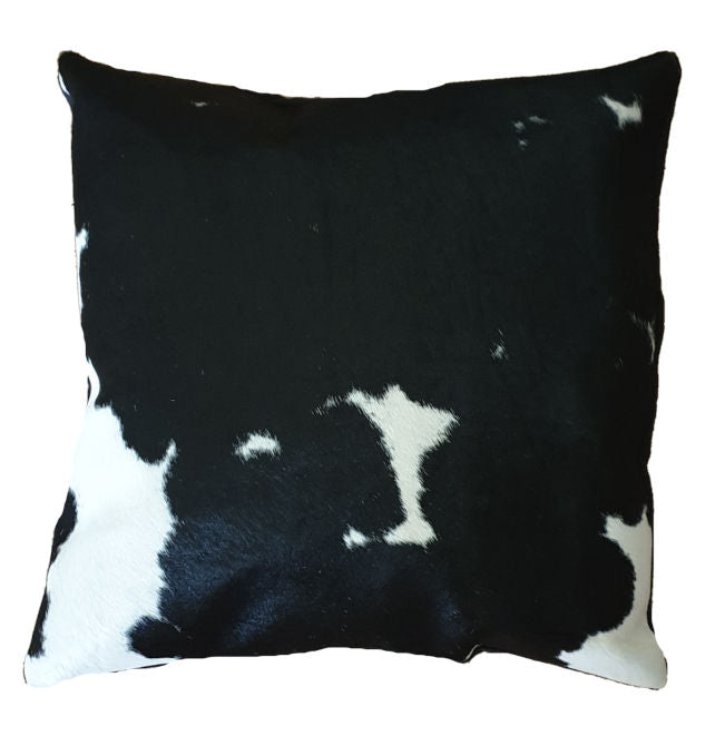Black and White Cowhide Cushion Cover 45cmx45cm