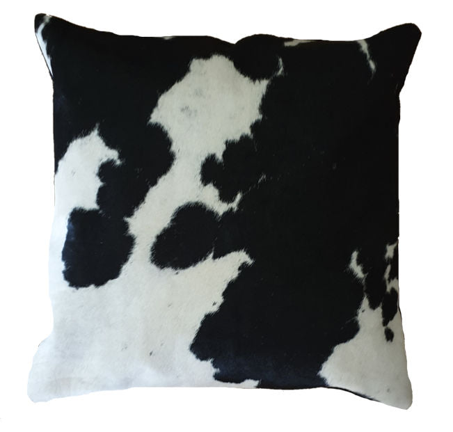 Black and White Cowhide Cushion Cover 45cm