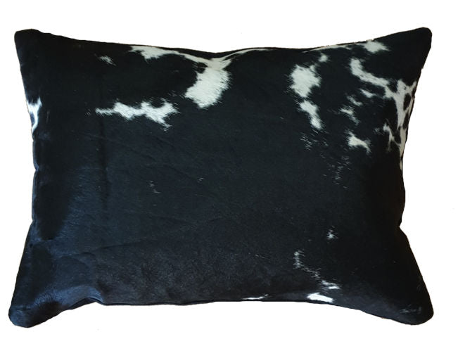 Black and White Cowhide Rectangle Cushion Cover 50cm x 35cm
