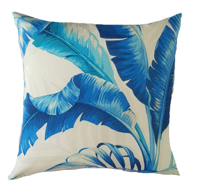 Blue Tropical Outdoor Cushion Cover
