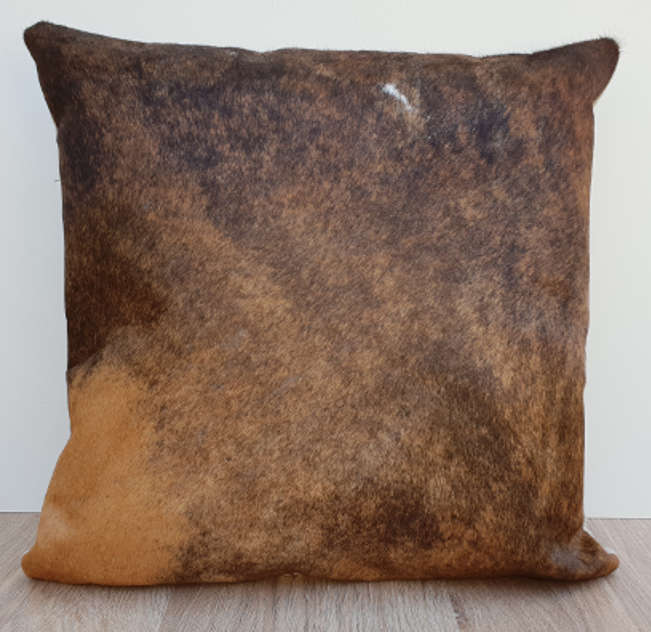 Solid Brown Brindle Cowhide Cushion Cover