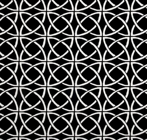 Black and White Geometric Circles Outdoor Cushion Cover