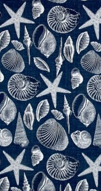 Blue Coastal Seashells Table Runner