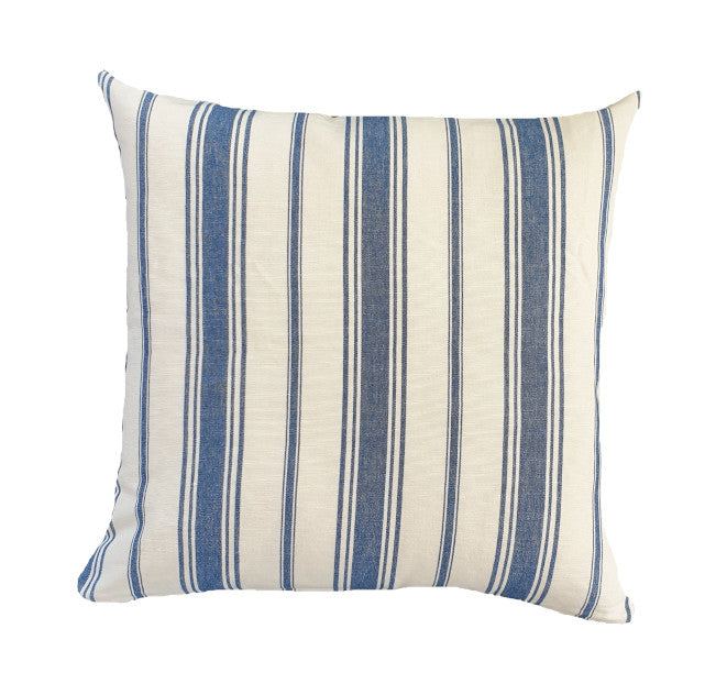 Coastal Navy Pin Stripe Indoor Cushion Cover