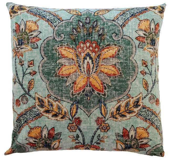 Dusty Blue Moroccan Indoor Cushion Cover