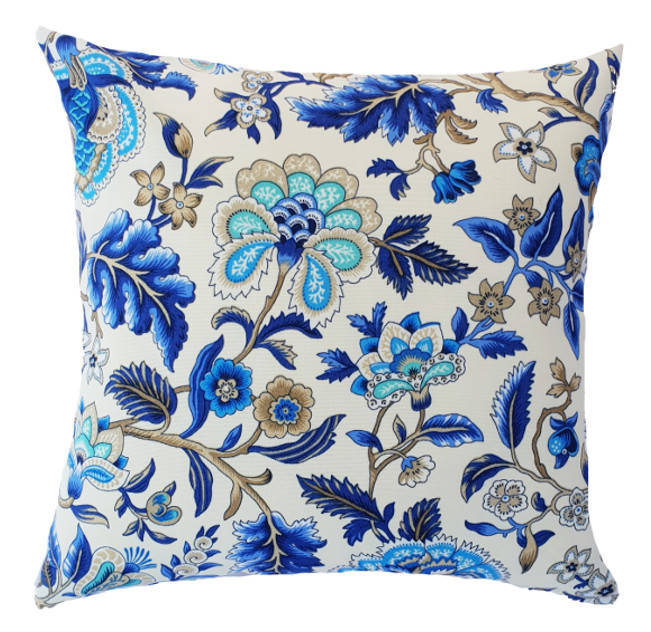 Elegant Blue and White Hamptons Style indoor cushion cover