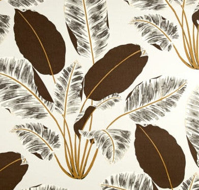 Big Brown Tropical Leaves Indoor Cushion Cover