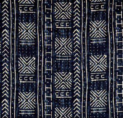 Tribal Mud Cloth Blue Indoor Cushion Cover