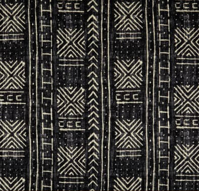Tribal Mud Cloth Inked Indoor Cushion Cover