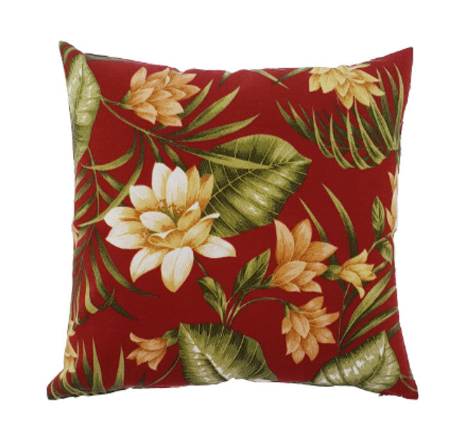 Golden Red Flowers Outdoor Cushion Cover