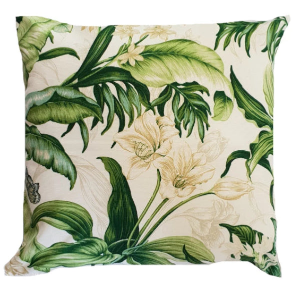 Green Botanical Indoor Cushion Cover