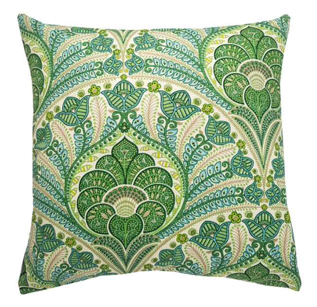 Green moroccan outdoor cushion cover