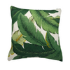 Green Tropical Palm Leaf Outdoor Cushion Cover
