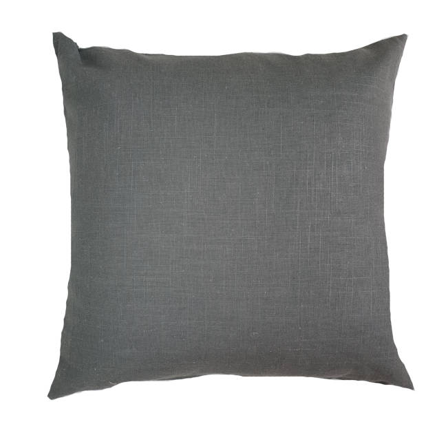 Grey Linen Indoor Cushion Cover
