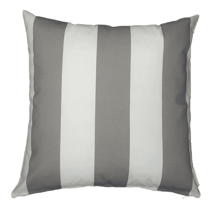 Grey Stripe Outdoor Cushion Cover
