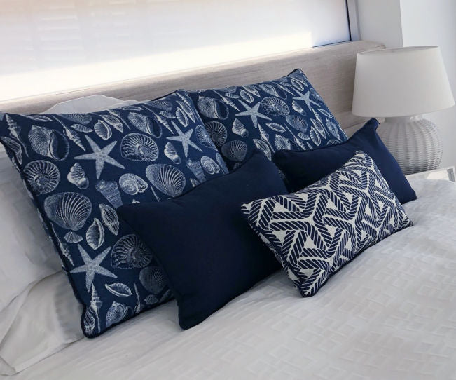 Coastal Seashells Cushion Collection