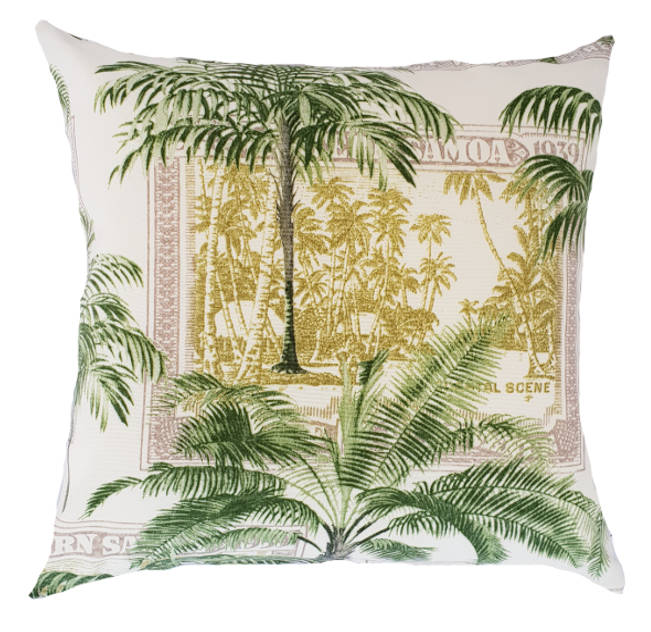 Caribbean Palms indoor/outdoor cushion cover
