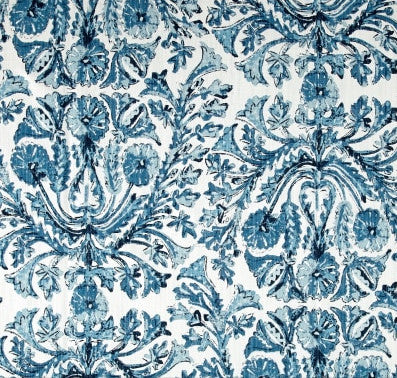 Seablue Damask Indoor Cushion Cover