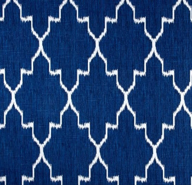 Blue Hamptons Style Monoco Geometric Indoor Cushion Cover