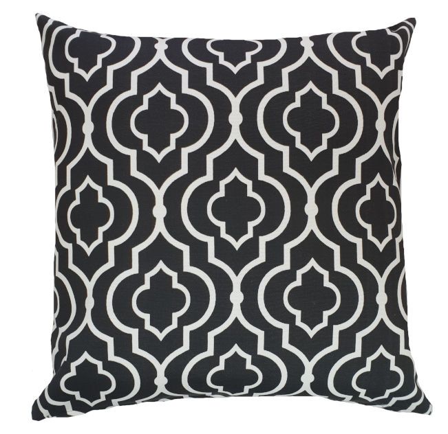 Moroccan Black and White Geometric Outdoor Cushion Cover
