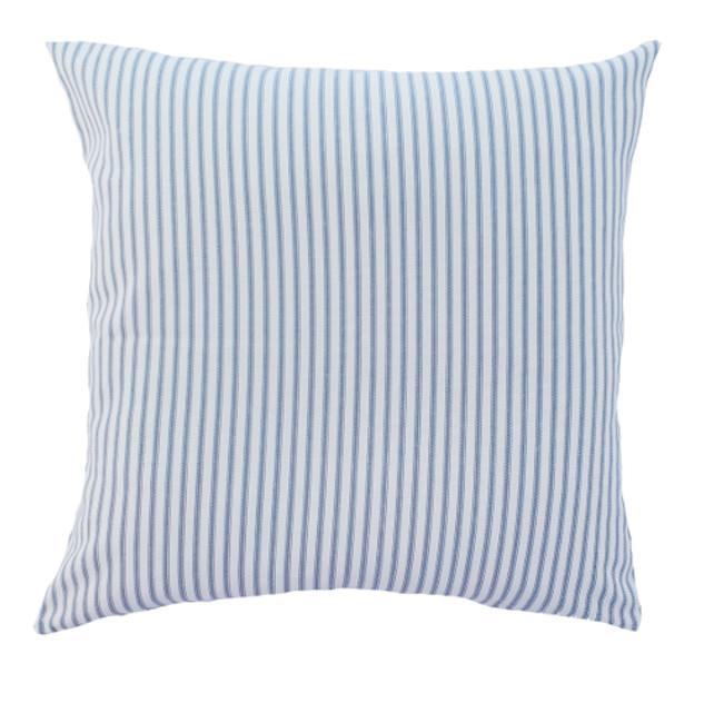 Light Grey/Blue Hamptons Striped Indoor Cushion Cover