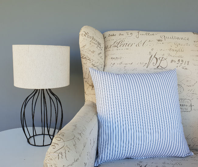 Berlin Ticking Stripe Hamptons style cushion cover
