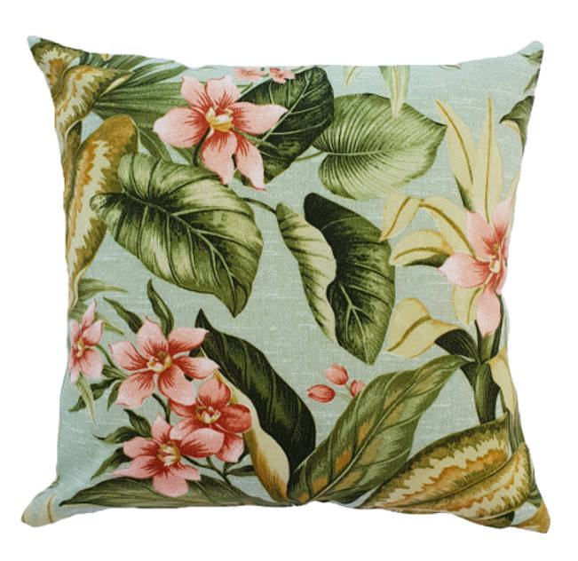 Blush Pink Orchids Outdoor Cushion Cover