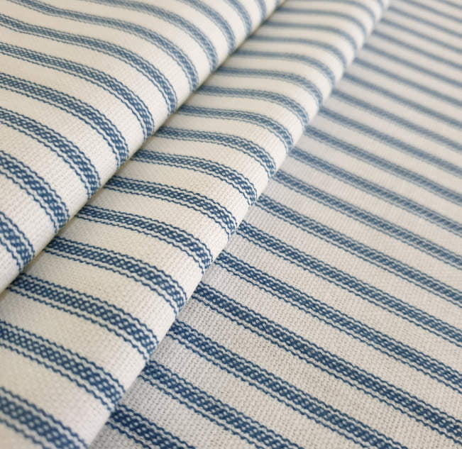Ocean Blue Hamptons Striped Indoor Cushion Cover