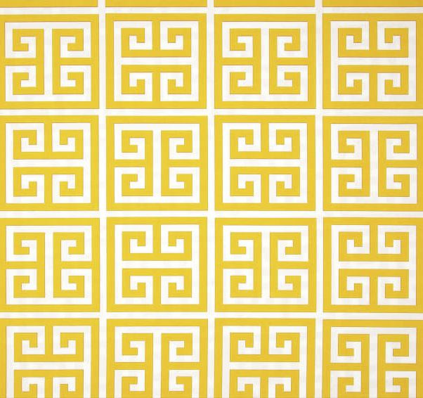 Yellow and White Geometric Outdoor Cushion Cover