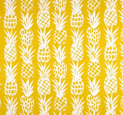 Yellow Pineapples Outdoor Cushion Cover