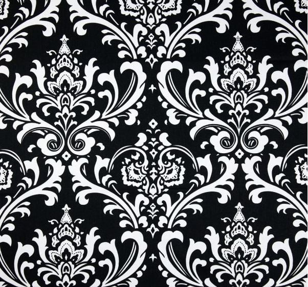 Black and White Damask Indoor Cushion Cover