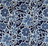 Bold Blue and White Flowers Outdoor Cushion Cover