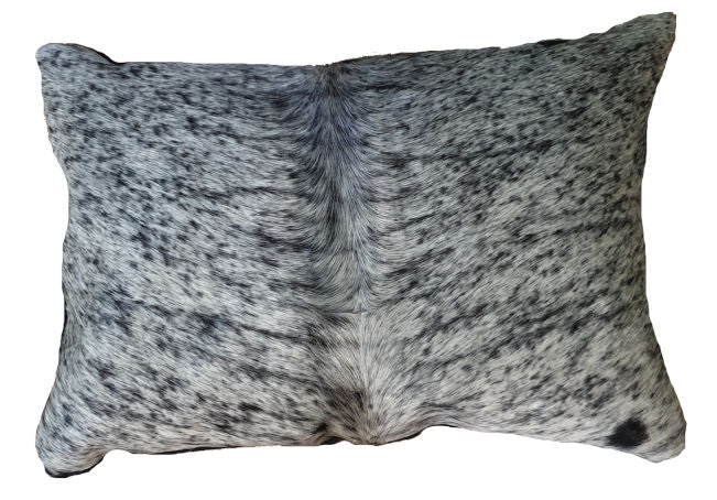 Salt and Pepper Cowhide Cushion Cover Rectangle 35cmx50cm