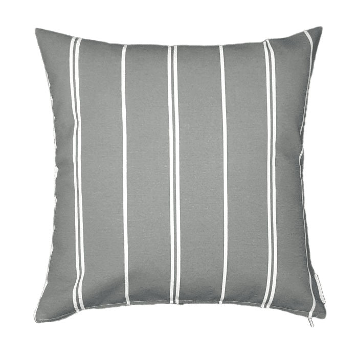 Stone Grey Pin Stripe Hamptons Style Cushion Cover